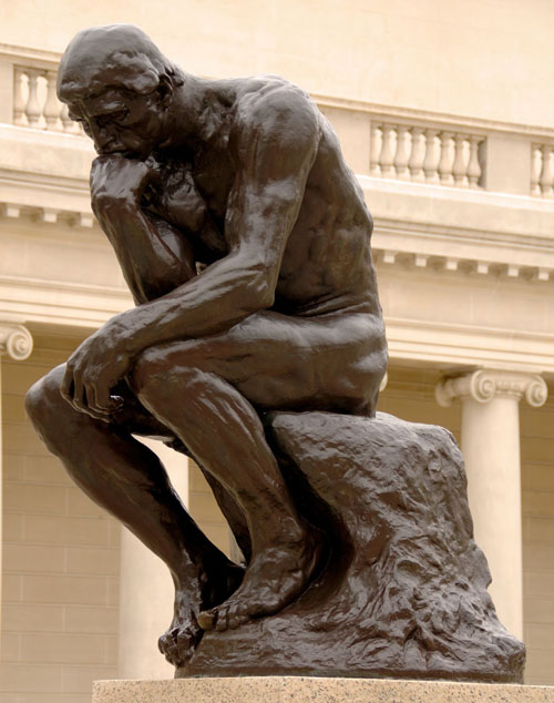 Photo of the Thinker